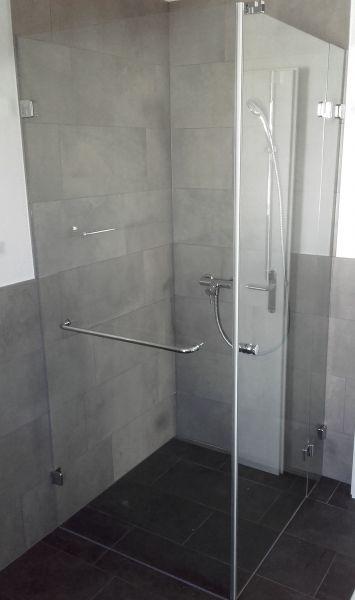 dusche aus esg 8 mm beschlge gral bh205 und handtuchhalter 600 mm glanzverchromt ref 419149 - Handtuchhalter Dusche Glas