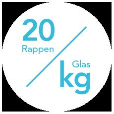 Der aktuelle Energiekosten-Tarif beträgt 20 Rp/kg.